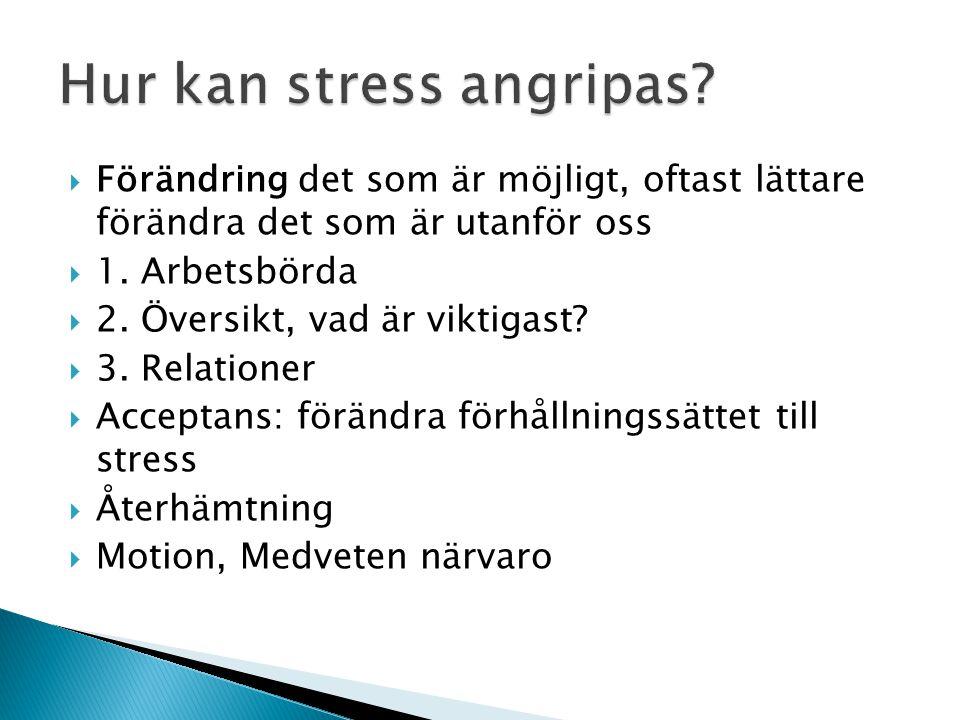 Hur kan stress angripas