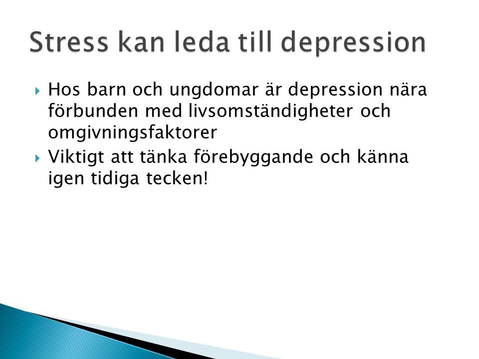 Stress kan leda till depression