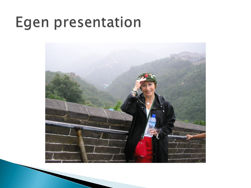 Egen presentation