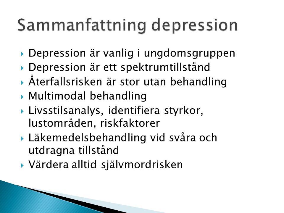 Sammanfattning depression