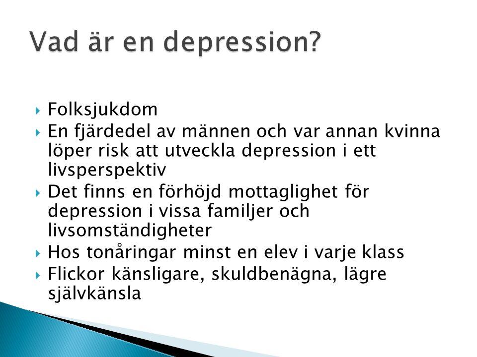 Vad är en depression Folksjukdom