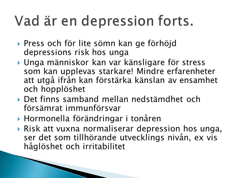 Vad är en depression forts.