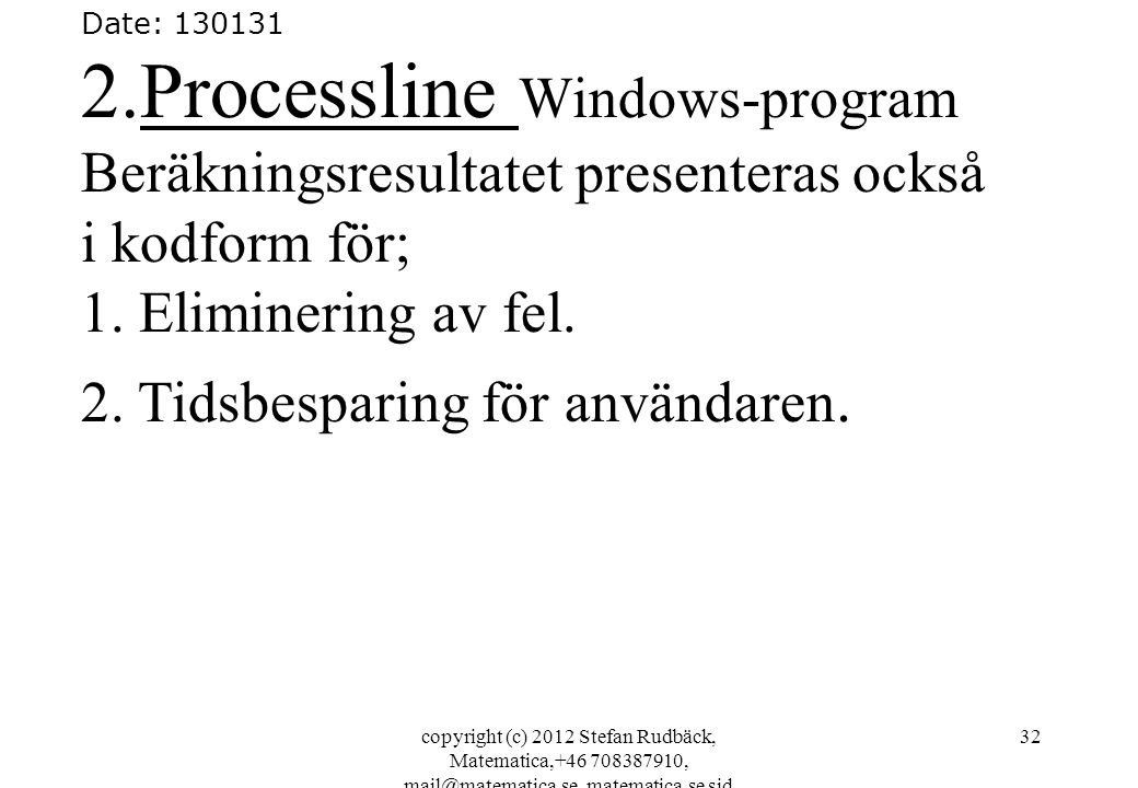 2.Processline Windows-program