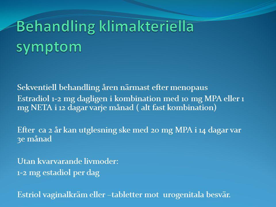 Behandling klimakteriella symptom