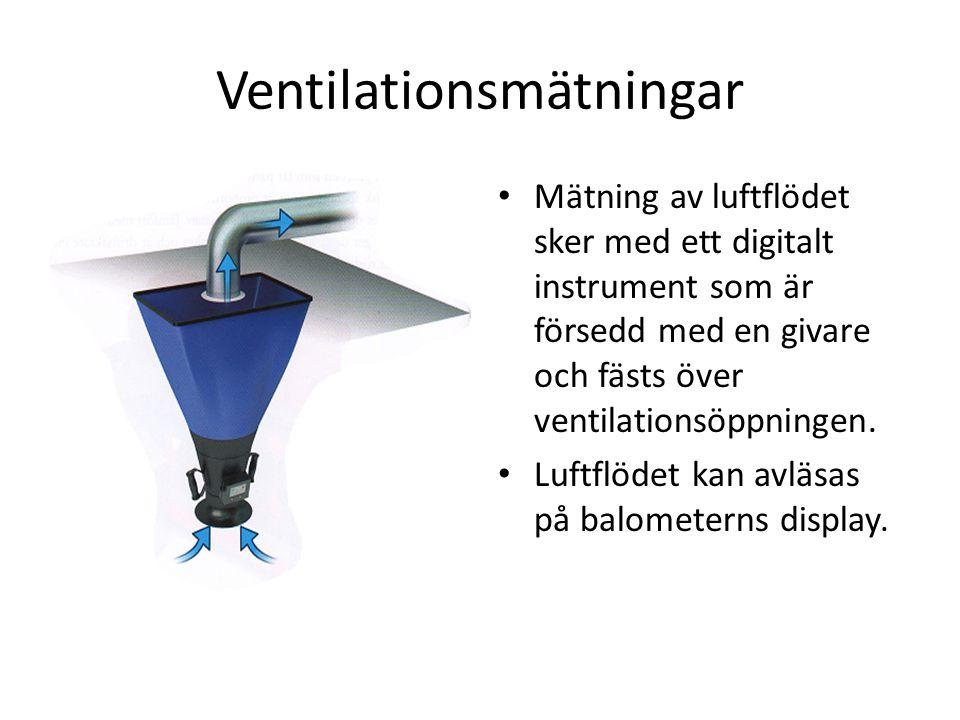 Ventilationsmätningar