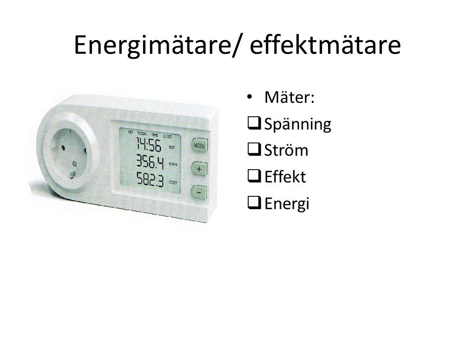 Energimätare/ effektmätare