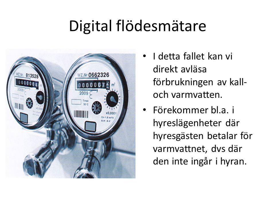 Digital flödesmätare _
