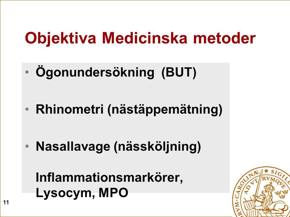 Objektiva Medicinska metoder