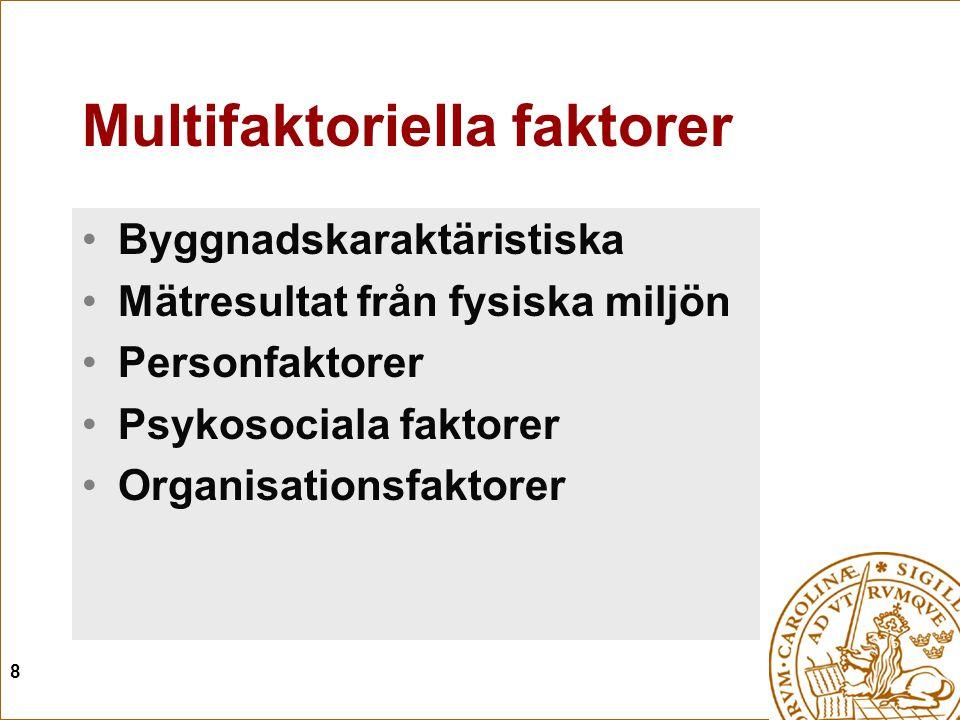 Multifaktoriella faktorer