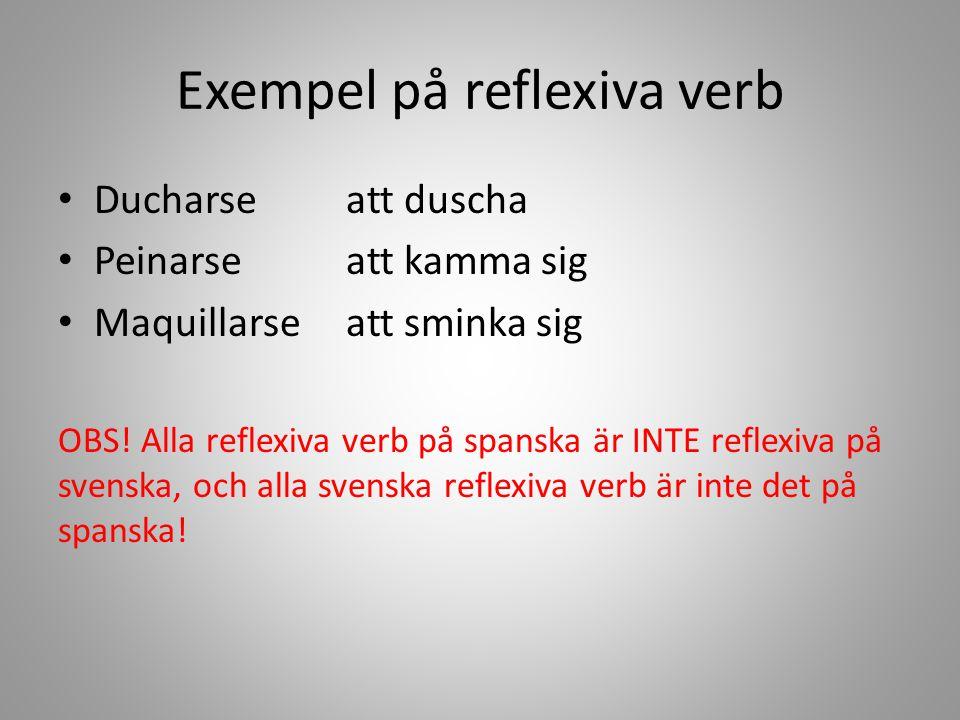 Exempel på reflexiva verb