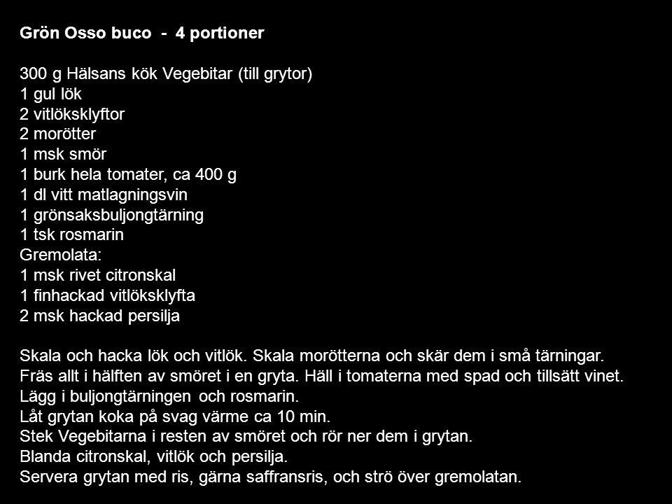 Grön Osso buco - 4 portioner