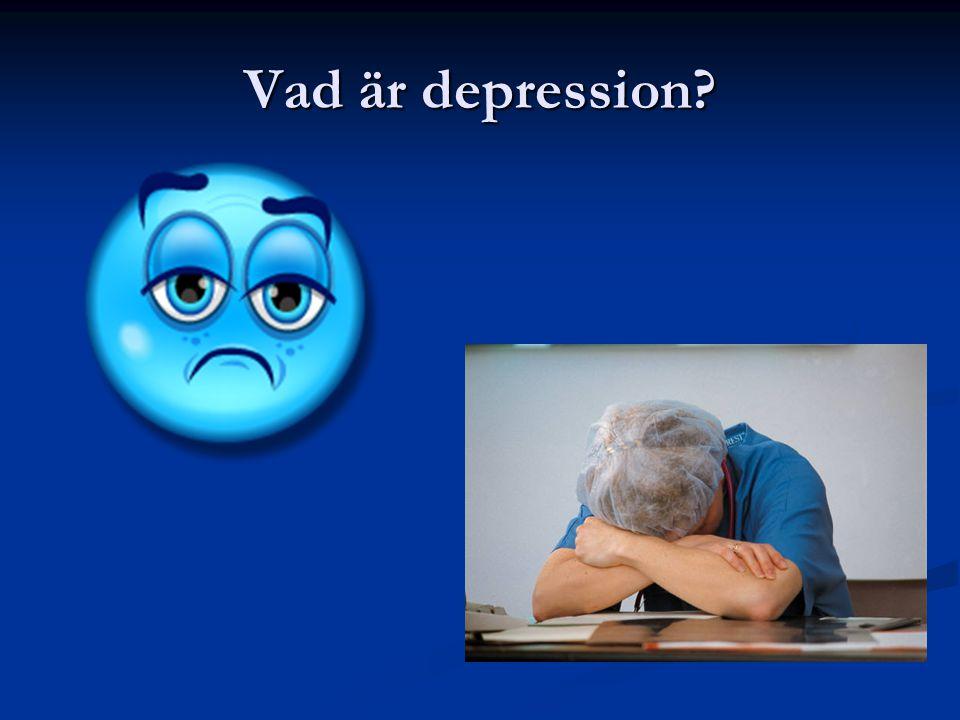 Vad är depression