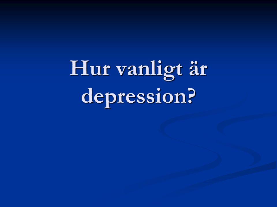 Hur vanligt är depression