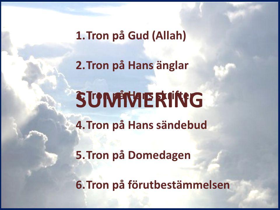 SUMMERING Tron på Gud (Allah) Tron på Hans änglar