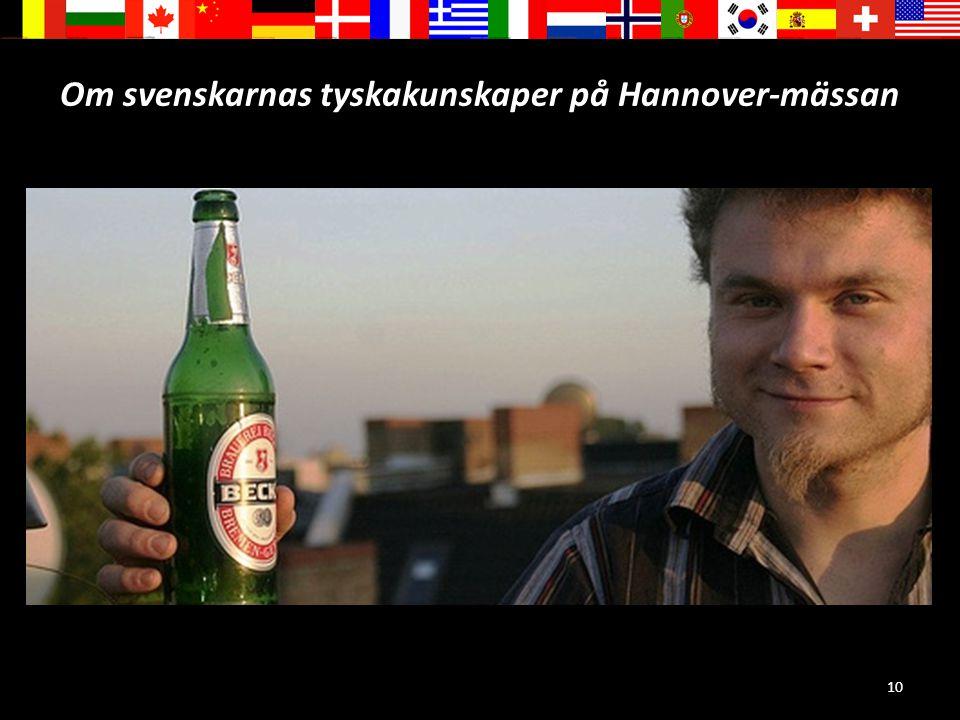 Om svenskarnas tyskakunskaper på Hannover-mässan
