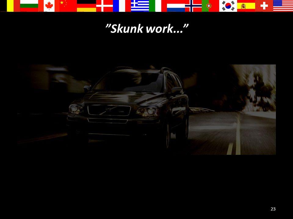 Skunk work...