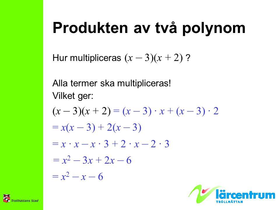 Produkten av två polynom