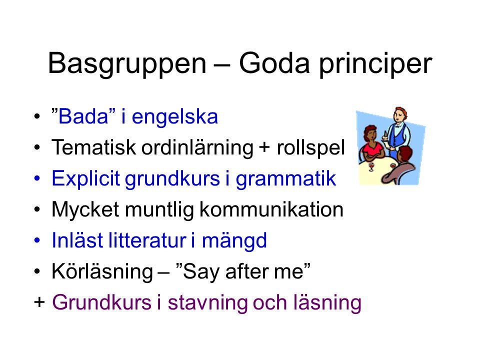 Basgruppen – Goda principer