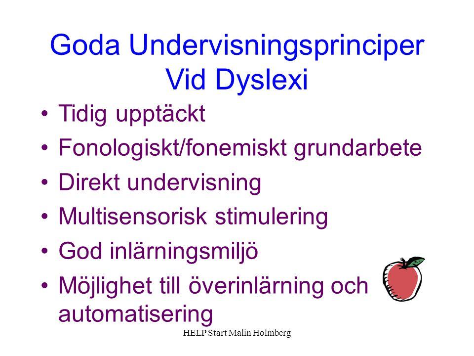 Goda Undervisningsprinciper Vid Dyslexi