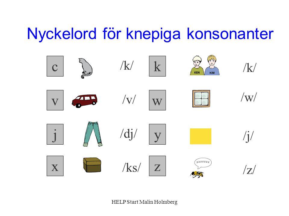 Nyckelord för knepiga konsonanter