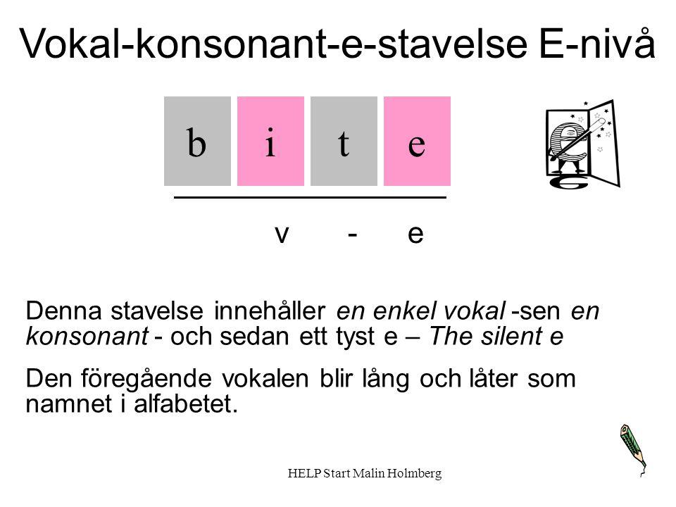 Vokal-konsonant-e-stavelse E-nivå