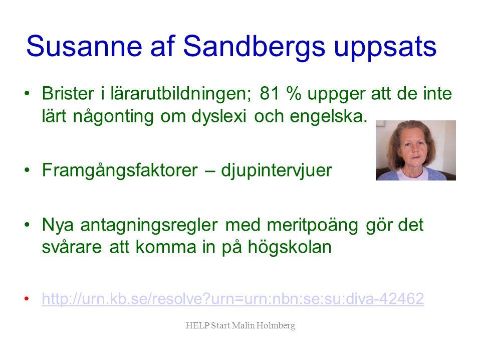 Susanne af Sandbergs uppsats