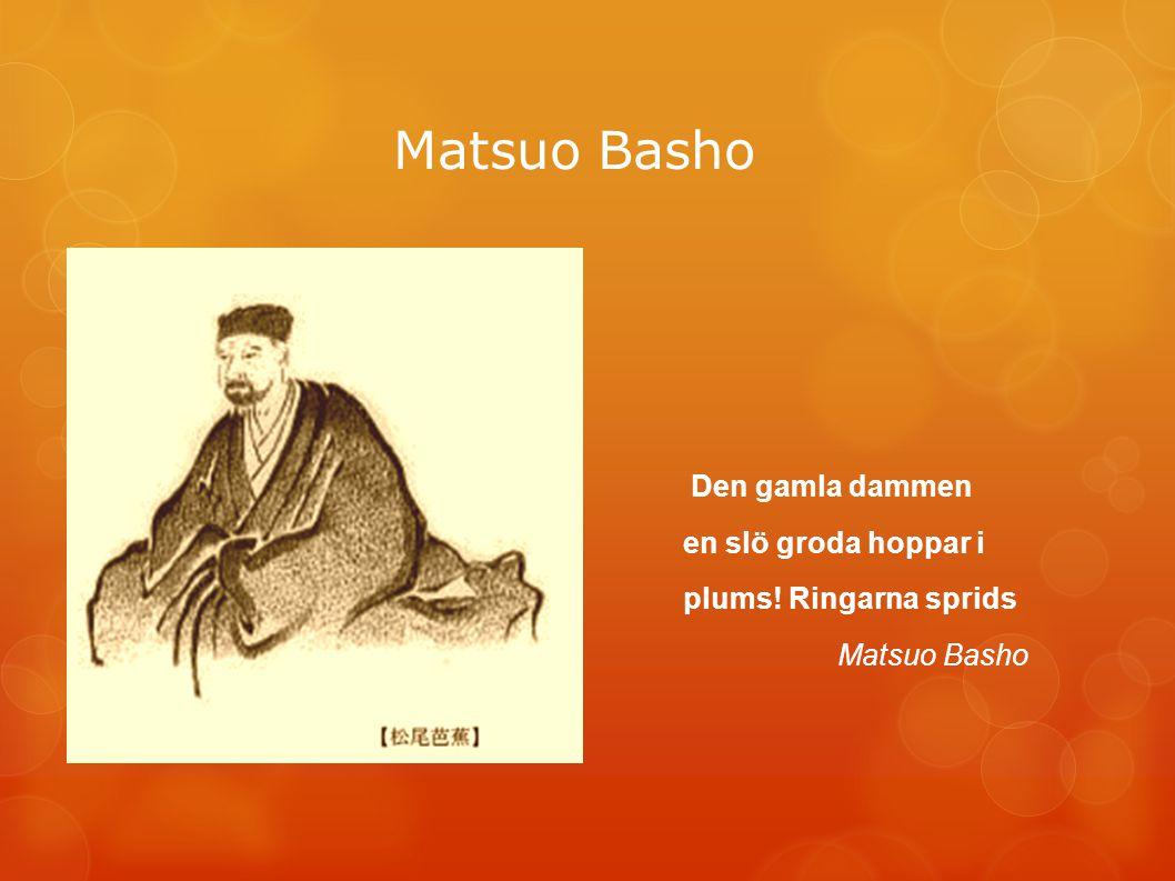 Matsuo Basho Den gamla dammen en slö groda hoppar i