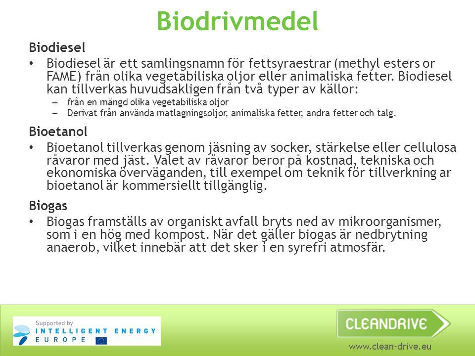 Biodrivmedel Biodiesel