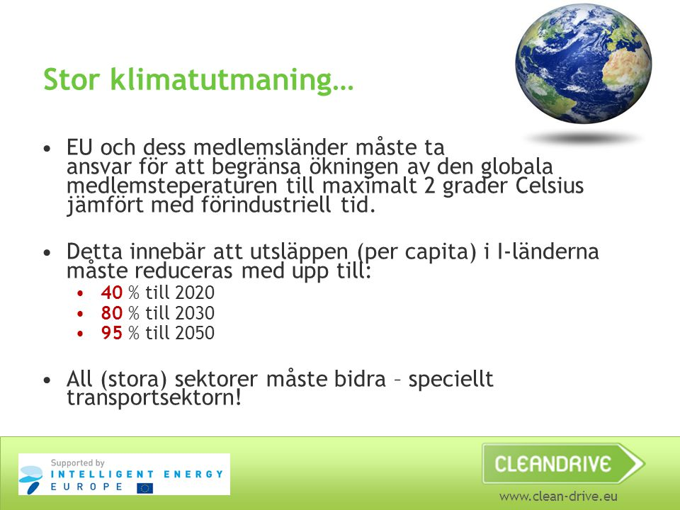 Stor klimatutmaning…