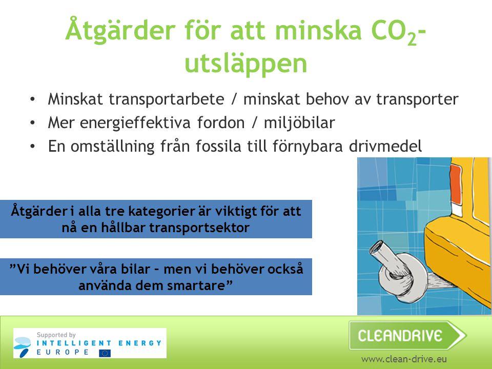 Åtgärder för att minska CO2-utsläppen