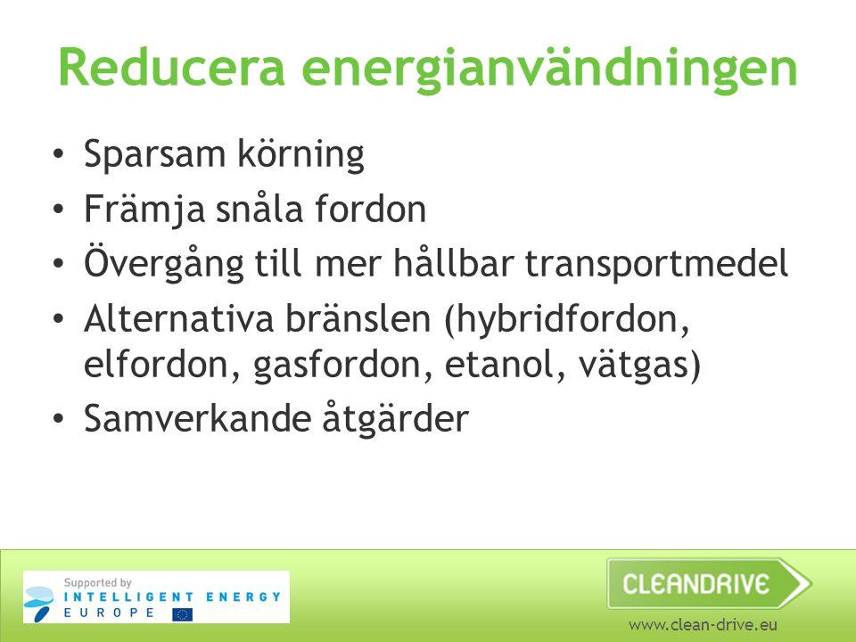 Reducera energianvändningen