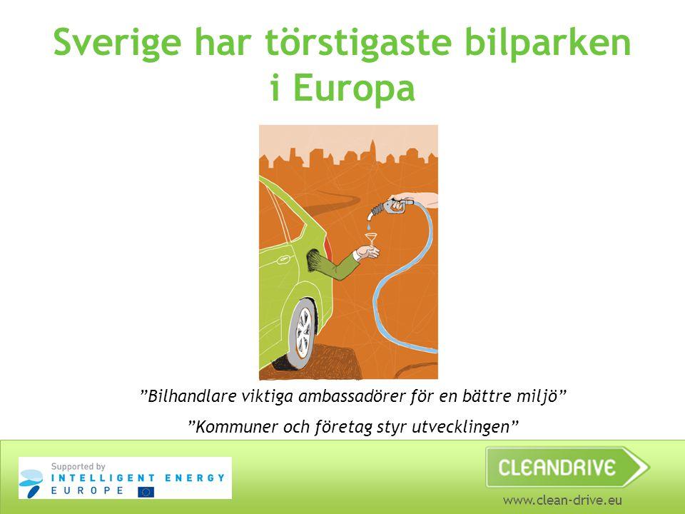 Sverige har törstigaste bilparken i Europa