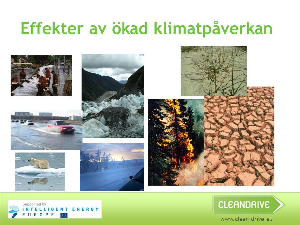 Effekter av ökad klimatpåverkan