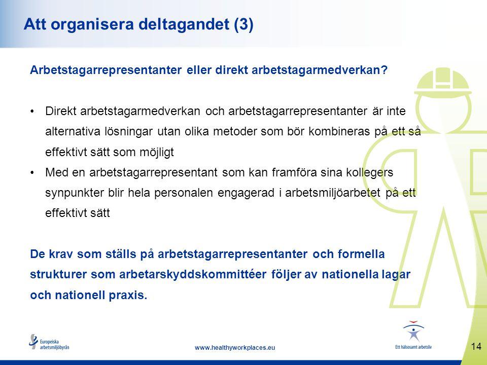 Att organisera deltagandet (3)