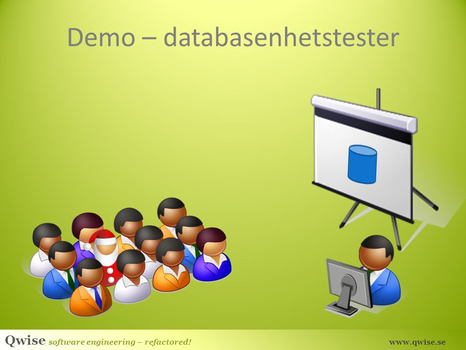 Demo – databasenhetstester