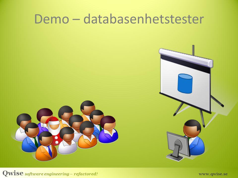 Demo – databasenhetstester