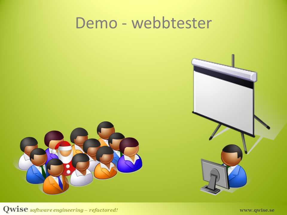 Demo - webbtester