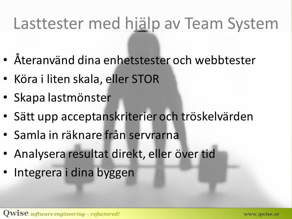 Lasttester med hjälp av Team System