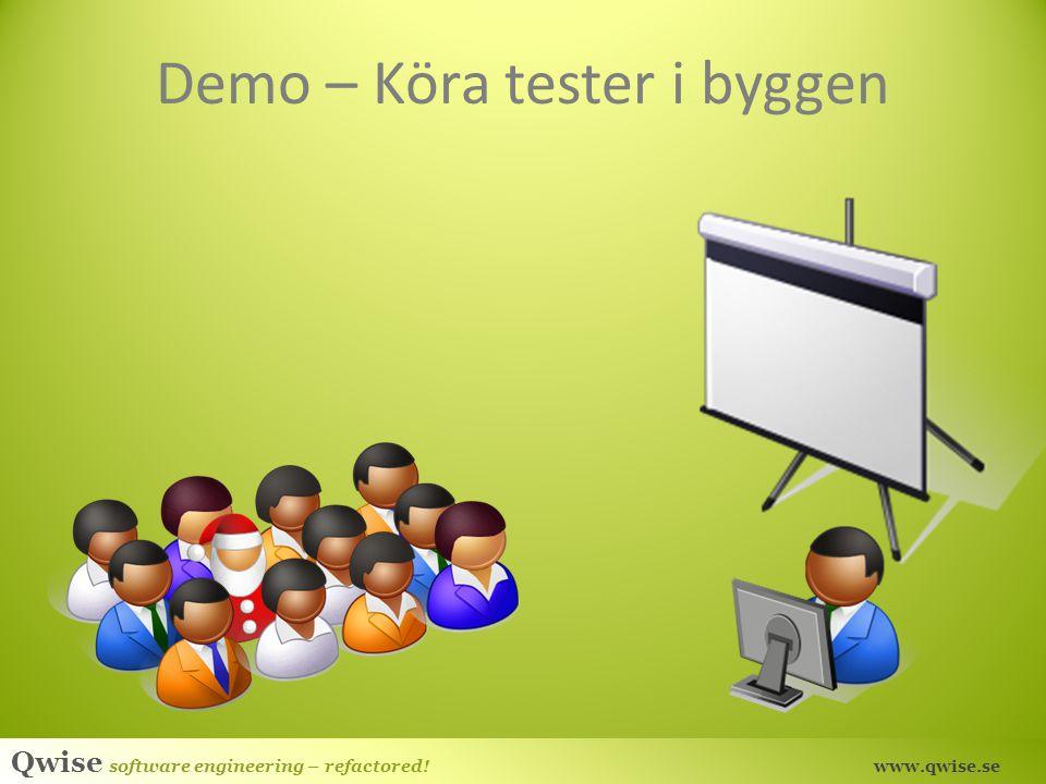 Demo – Köra tester i byggen