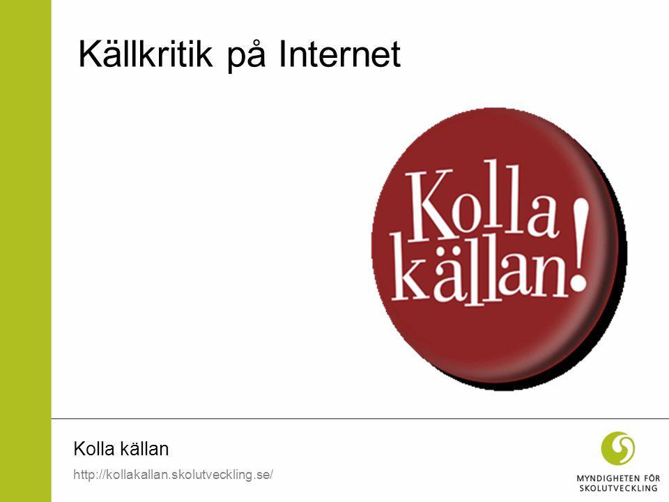 Källkritik på Internet