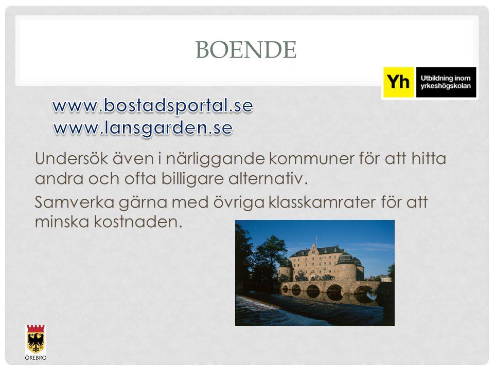 Boende www.bostadsportal.se www.lansgarden.se