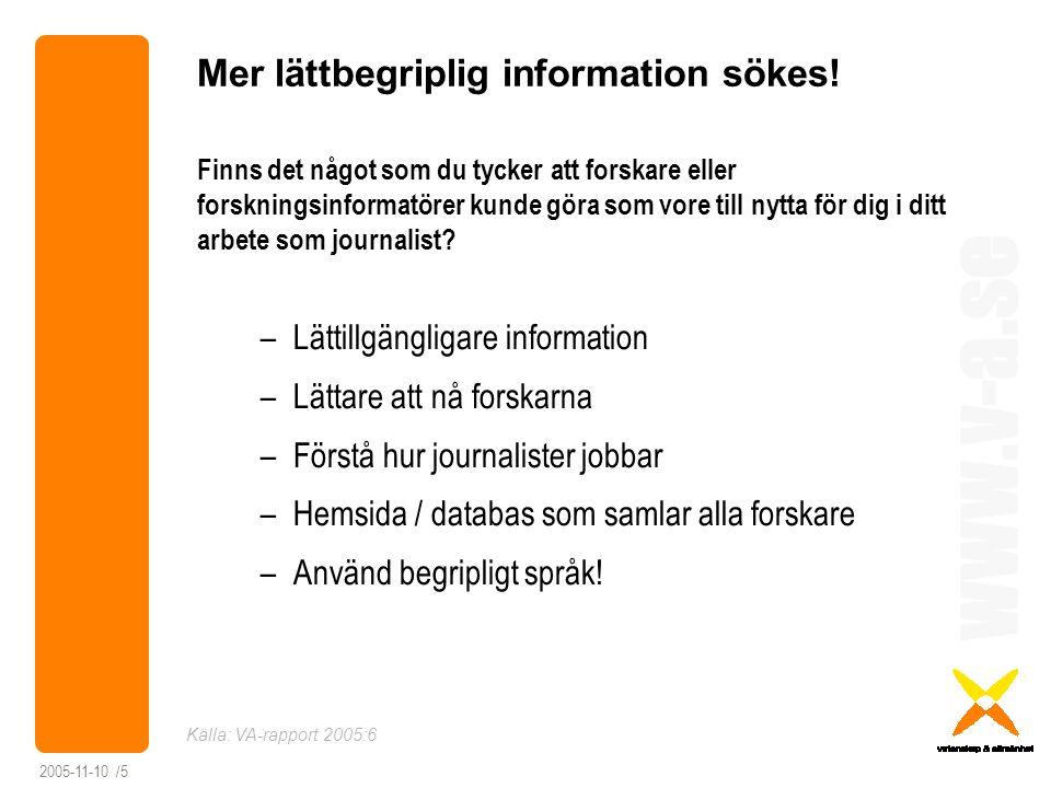 Mer lättbegriplig information sökes!