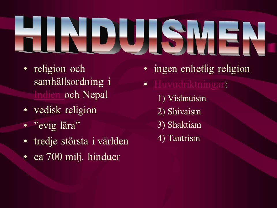 HINDUISMEN religion och samhällsordning i Indien och Nepal