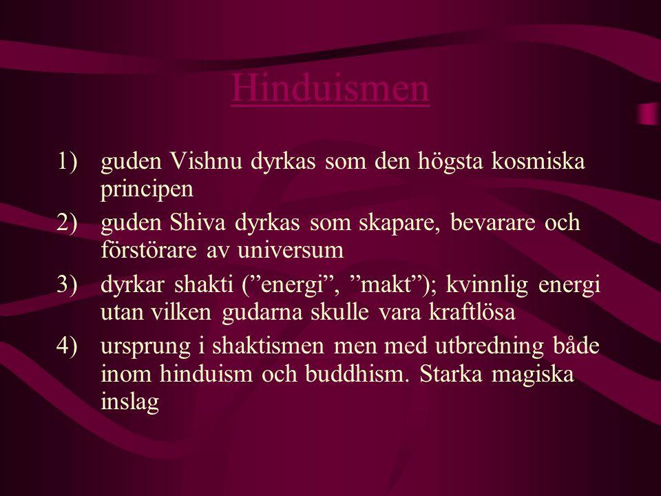 Hinduismen guden Vishnu dyrkas som den högsta kosmiska principen