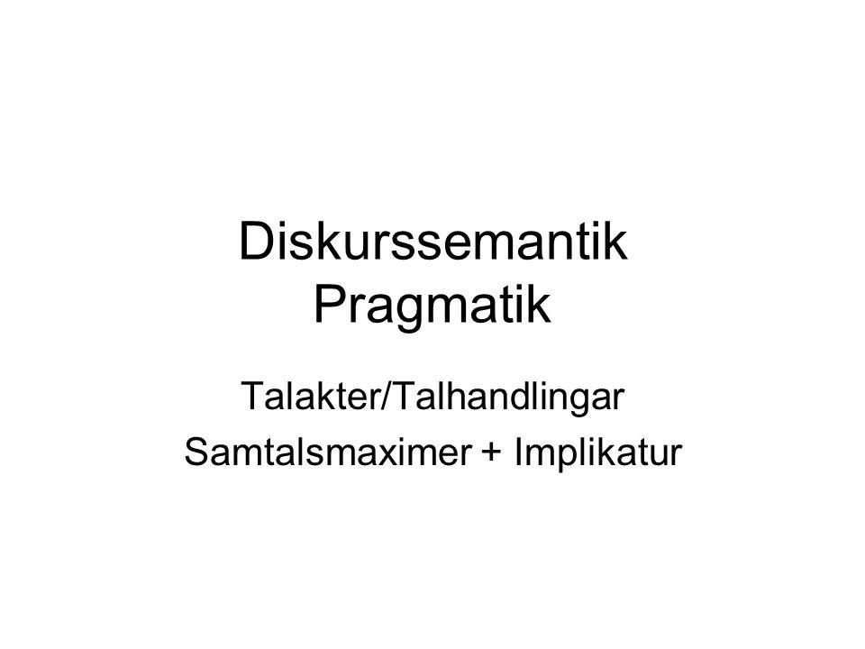 Diskurssemantik Pragmatik