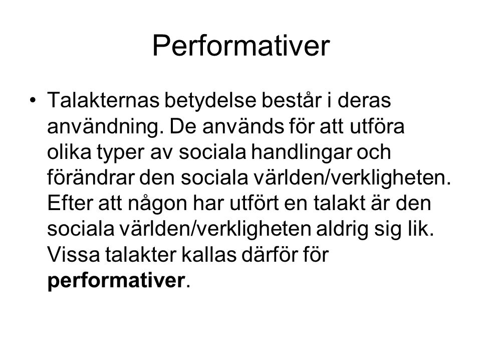 Performativer