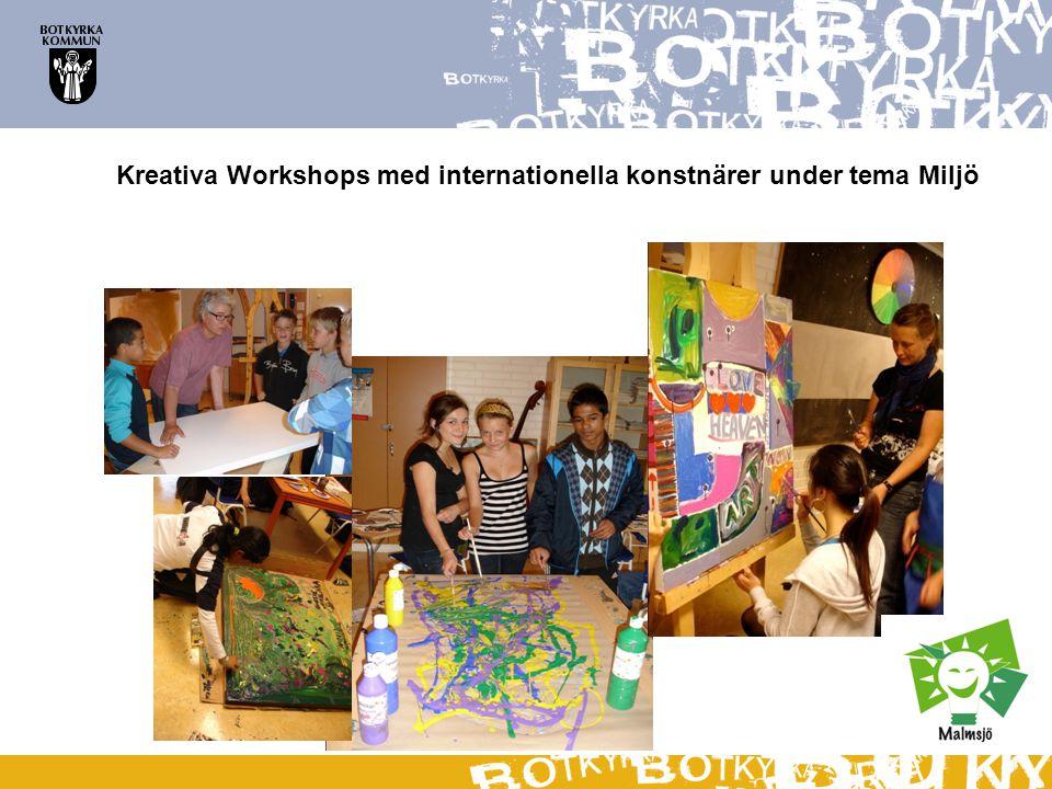 Kreativa Workshops med internationella konstnärer under tema Miljö