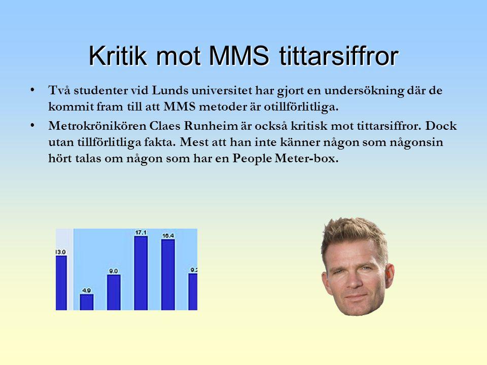 Kritik mot MMS tittarsiffror