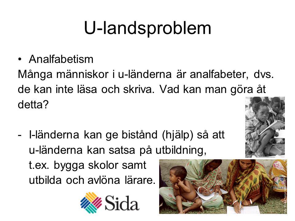 U-landsproblem Analfabetism