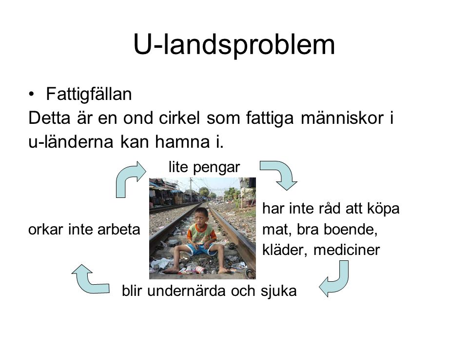 U-landsproblem Fattigfällan